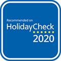 Recommended on Holidaycheck 2020